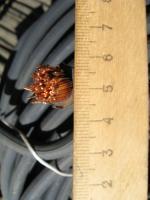 Фотография бухты резинового медного кабеля КГ 1х50 выпуска РыбинскКабеля