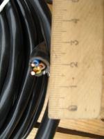 Фотография бухты негорючего силового кабеля ВВГнг-LS 3х2.5 не распространяющего горение при прокладке группами, со сниженным выделение дыма при вынужденном горение