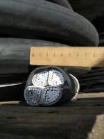 Фотография сечения кабеля АВВГ 4х240 с просматриваемой конструкцией