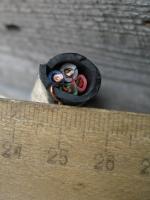 Фото четырёхжильного кабеля ВВГ 4х4 для стационарной прокладки на воздухе и в земле