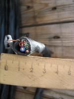 Фото сечения силового кабеля ВВГнг-LS 5х4 пониженной горючести для прокладки в офисных зданиях
