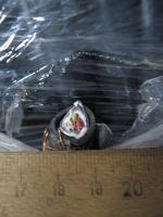 Фото сечения контрольного кабеля КВВГЭнг 4х1.5 с экраном в полимере пониженной горючести