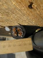 Фотография кабеля гибкого силового КГ 4х16 намотанном на барабане