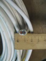 Сечение монтажного гибкого шнура ШВВП 2х4 с двумя параллельными жилами