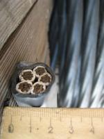 Живая фотография силового кабеля ВВГ 5х25 с пятью медными жилами
