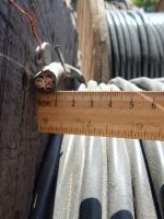 Фотография силового кабеля ВВГ 3х10 с тремя монолитными жилами