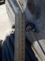 Фотография силового кабеля ВВГ 3х25+1х16 с четырьмя семипроволочными медными жилами