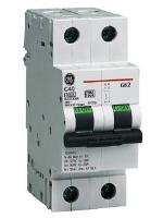Изображение модульного выключателя на два полюса G62 на номинал 20А производства General Electric