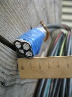 Фотография четырехжильного самонесущего провода СИП-5 4х35 для воздушных линий электропередач