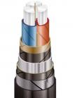 Изображение бронированного силового кабеля ААБл 3х150 на 10 киловольт для неподвижного размещения в почве
