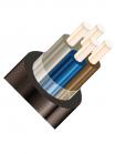 Изображение четырёхжильного кабеля КВВГ 4х6 для стационарной одиночной прокладки