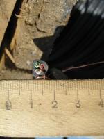 Фотография медного трёхжильного кабеля ВВГ 3х1,5 для стационарной одиночной прокладки производства Южкабель