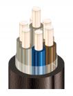 Изображение медного экранированного контрольного кабеля КВВГЭнг-LS 7х1 для групповой прокладки в общественных помещениях при возможных помехах