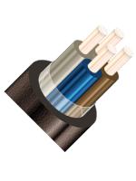Изображение контрольного негорючего кабеля КВВГЭнг 4х4 для стационарной групповой прокладки, с защитой от помех
