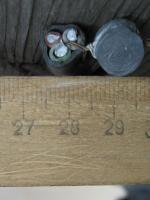Фотография сечения силового алюминиевого кабеля АВВГнг 3х6 для стационарной групповой прокладки