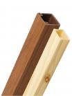 Изображение декоративных кабель-каналов 12х12 с текстурой дерева (дуба и сосны) серии Элекор компании ИЭК