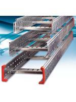 Изображение кабельного лестничного лотка 400х50 из оцинкованной стали
