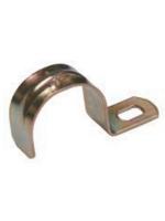 Изображение однолапковой скобы диаметром 10 мм производства ИЭК для крепления металлорукава