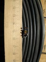 Фотография сечения силового малодымного негорючего кабеля ВВГнг-LS-П 3х1,5 для стационарной прокладки