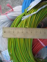 Фотография силового гибкого одножильного медного провода ПВ3нг-LS 1 в негорючей малодымной ПВХ изоляции разного цвета