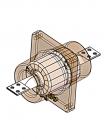 Изображение схемы измерительного трансформатора тока ТПОЛ-10 20/5 с двумя вторичными обмотками классов точности 0,5 и 10Р (под счётчик и реле)